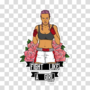 Fight Like A Girl PNG clipart images free download.