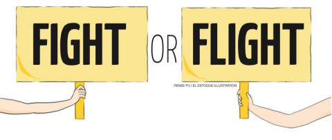 Fight or flight clipart 3 » Clipart Station.