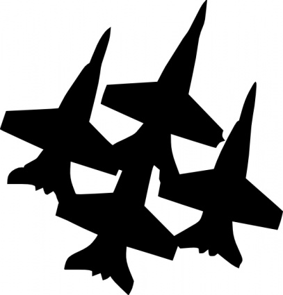 Fighter plane clip art.