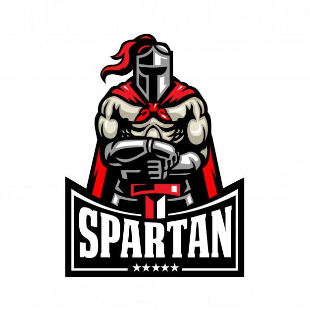 Spartan fighter logo Vector.