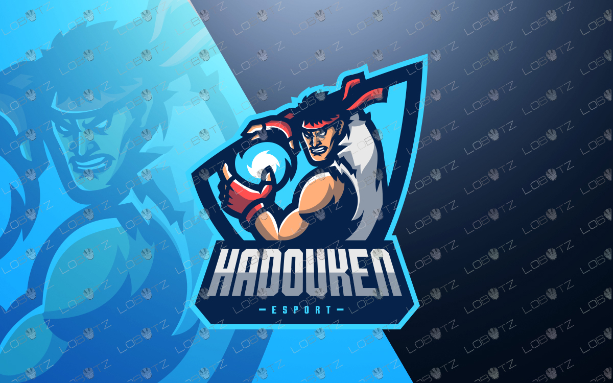 Street Fighter Mascot Logo.
