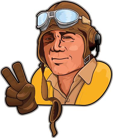 Fighter Pilot Clip Art, Vector Images & Illustrations.