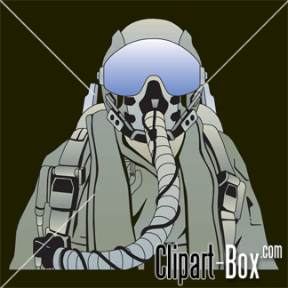 CLIPART FIGHTER PILOT.