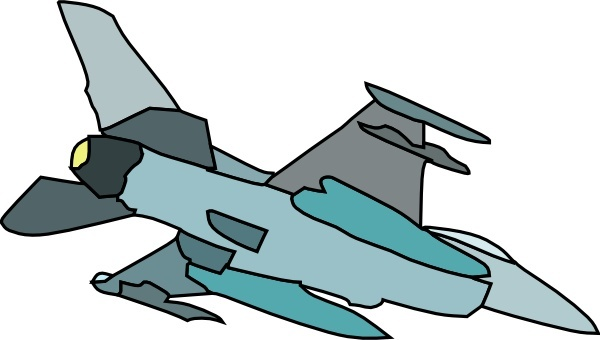 Military Fighter Plane clip art Free vector in Open office drawing.