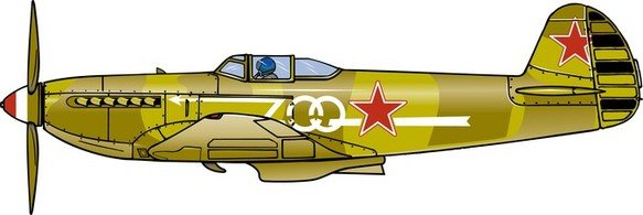 Fighter Plane 002, Clip Art.