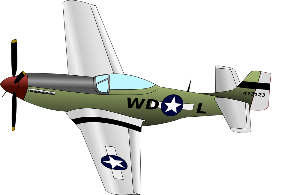 Free vector graphic: Mustang, Airplane, Aircraft, Jet.