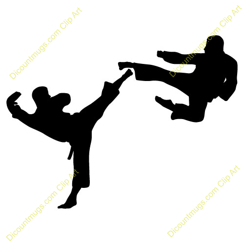 Kung fu fighter clipart.