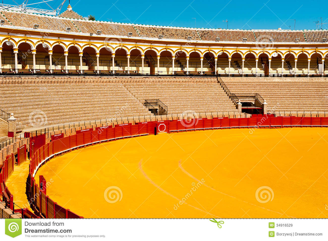 Bull Fight Arena Royalty Free Stock Images.