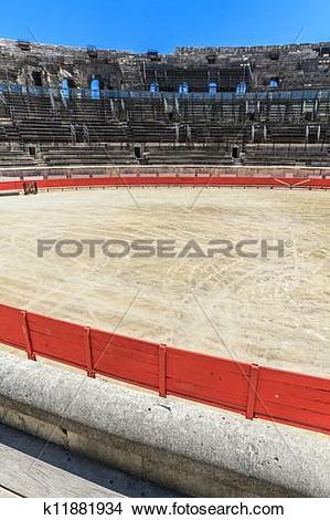 Stock Photo of Bull Fighting Arena Nimes (Roman Amphitheater.