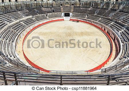 Stock Image of Bull Fighting Arena Nimes Roman Amphitheater.
