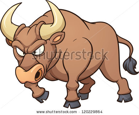 Angry Bull Stock Photos, Royalty.