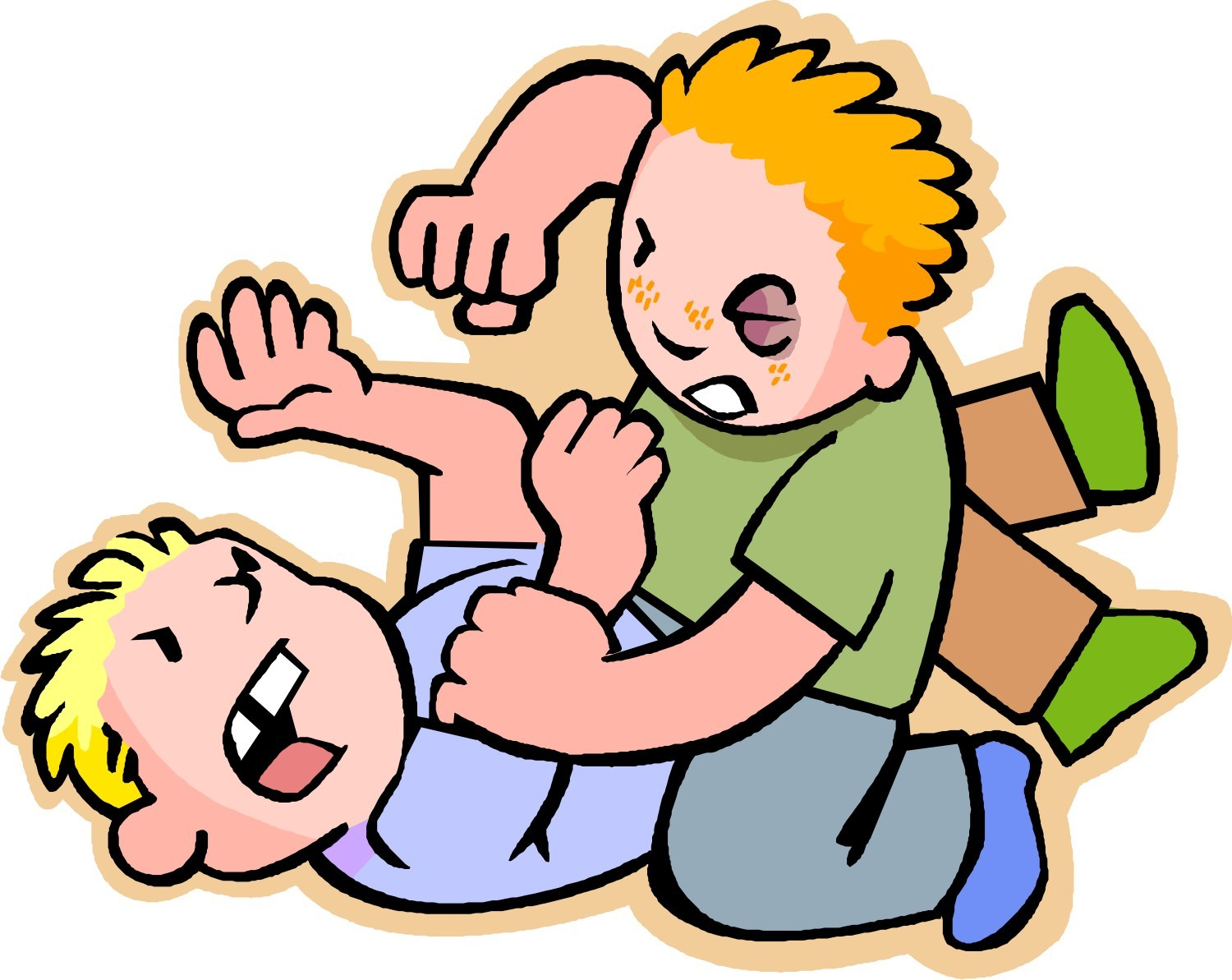 People Fighting Clipart.