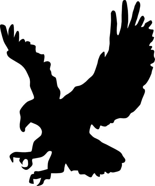 Black Golden Eagle Clip Art at Clker.com.