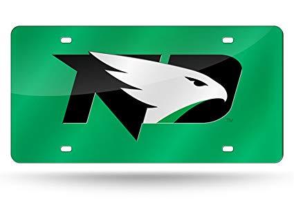 Amazon.com: North Dakota Fighting Hawks NEW LOGO GREEN Laser.
