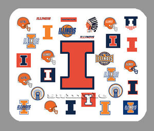 Details about Item#3812 Illinois Fighting Illini Logo Art Mouse Pad.