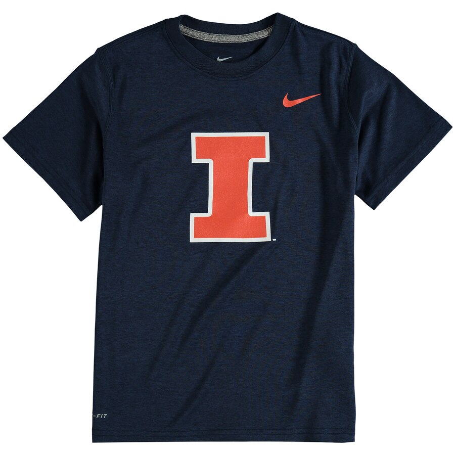 Youth Nike Navy Illinois Fighting Illini Logo Legend Dri.