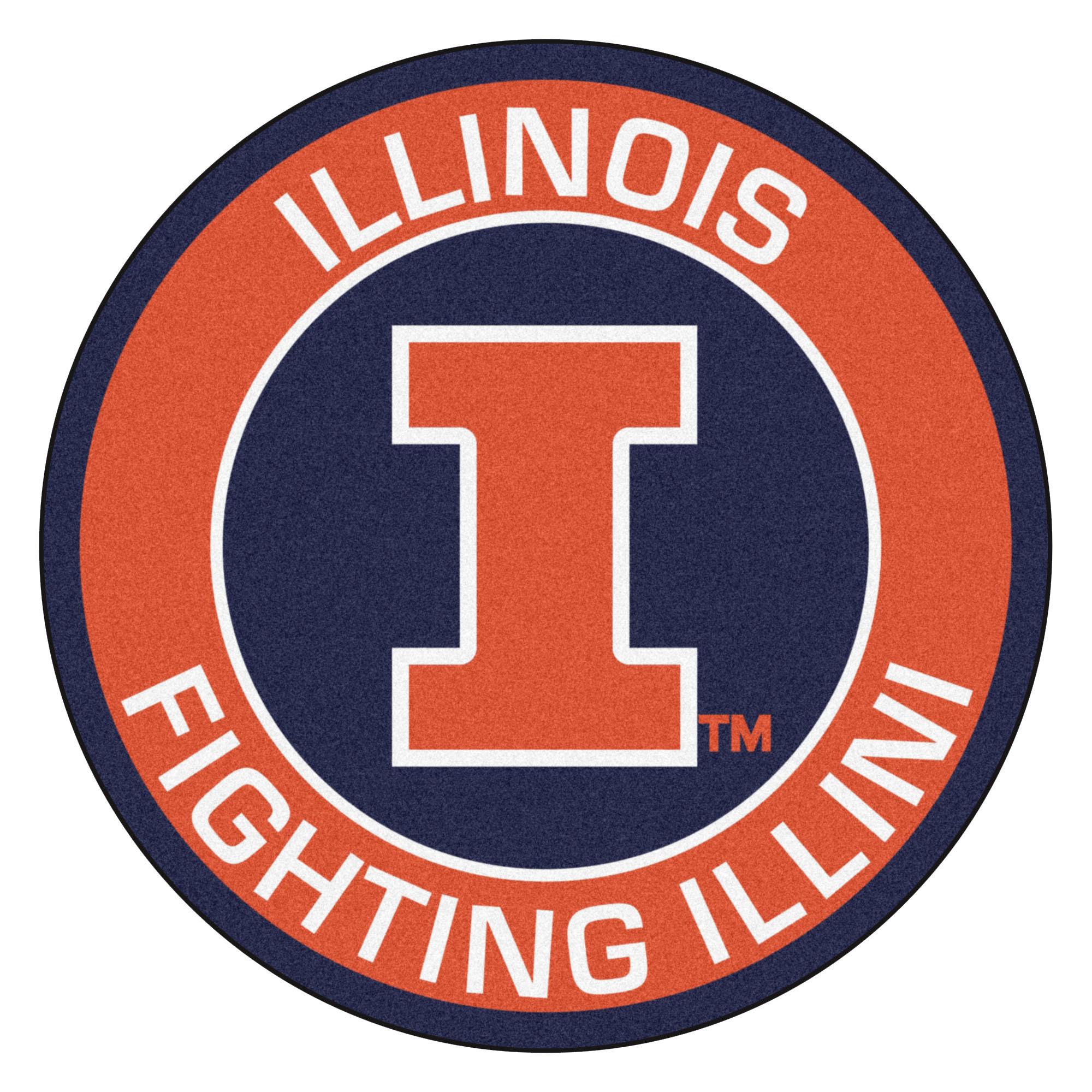 University of Illinois Fighting Illini Logo Roundel Mat.
