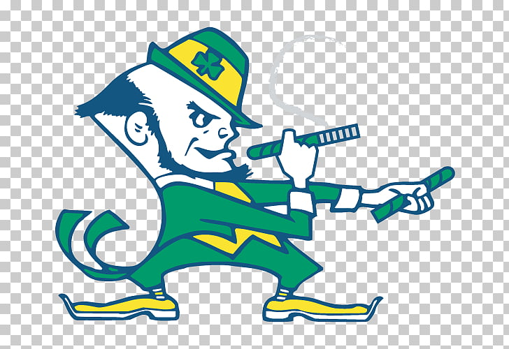Notre Dame Fighting Irish football Decal Bumper sticker.