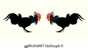 Cock Fight Clip Art.