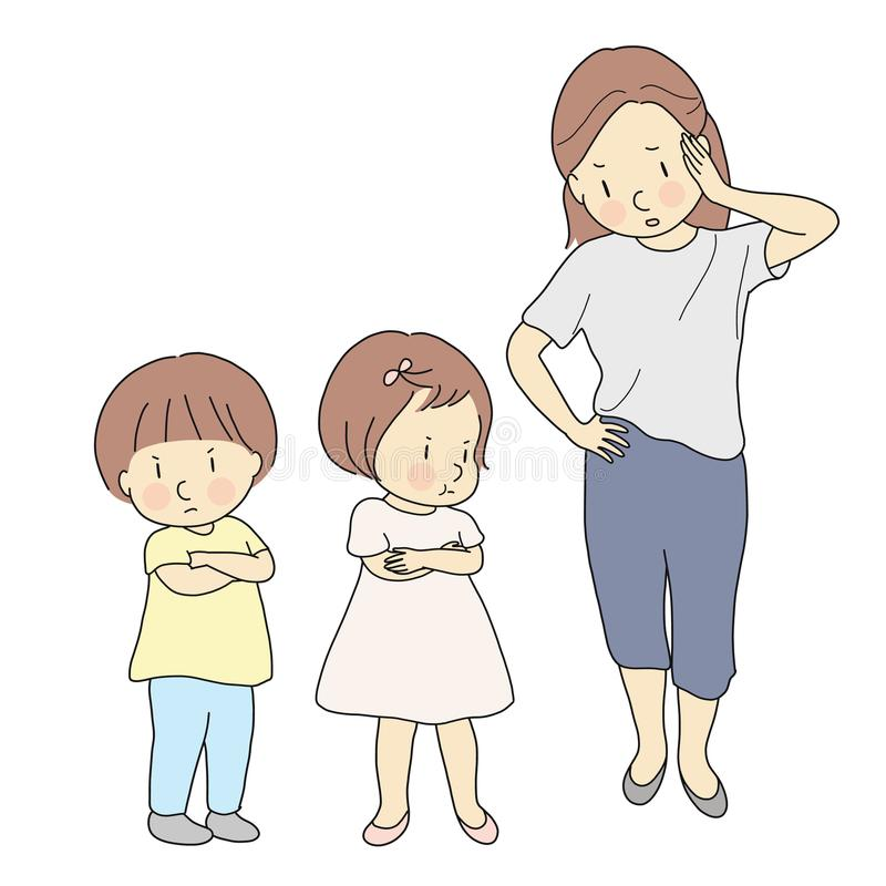 Siblings Stock Illustrations.