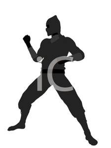 Art Image: A Ninja In a Fighting Stance.