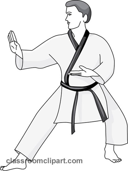 Gallery For > Karate Fighting Stance Clipart.