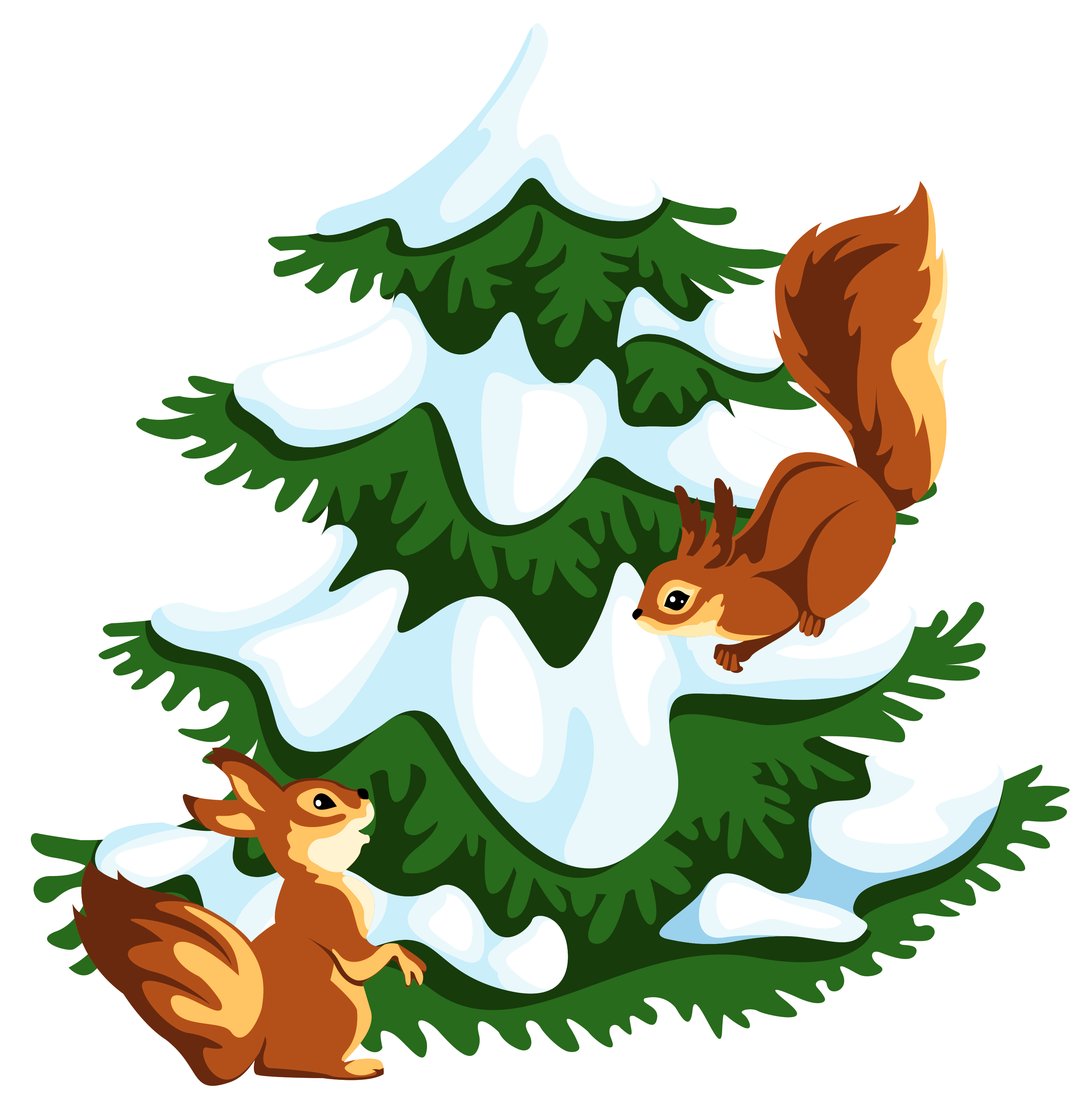 Winter Squirrel Clip Art.