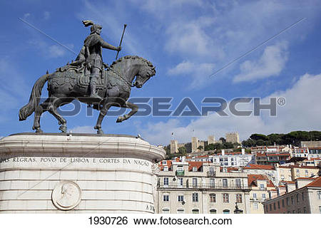 Stock Images of Praca Do Figueira Square, Lisbon, Portugal, Europe.