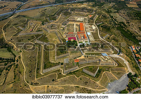 "Picture of ""Aerial view, Castell de Sant Ferran or Castillo de San."