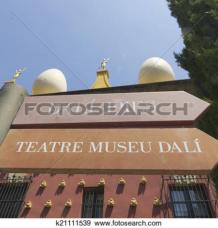 Stock Photograph of Signs Dali museum in Figueres. k21111539.
