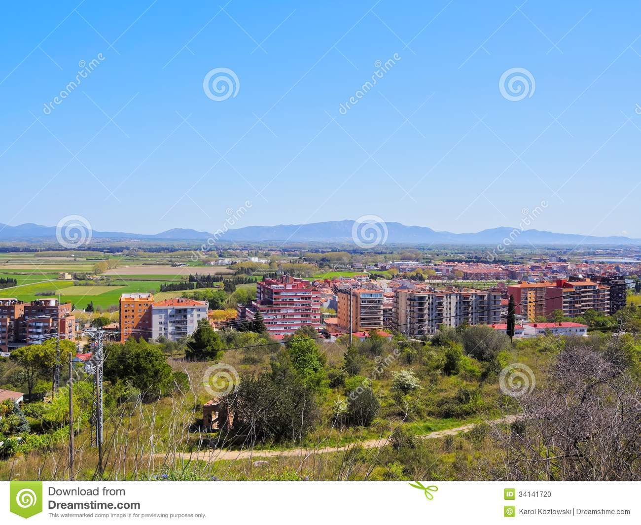 Figueres In Catalonia, Spain Stock Photo.
