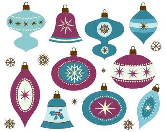 retro christmas decorations.