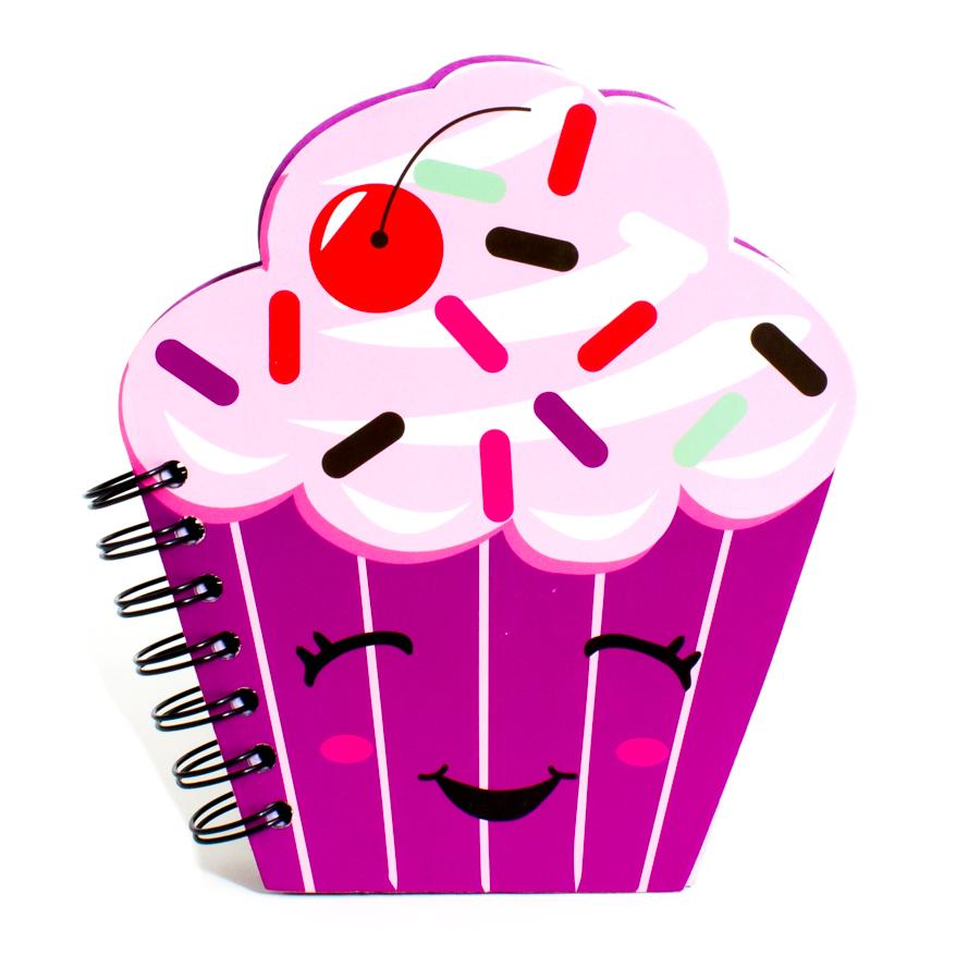 Figural Cupcake Notebook.