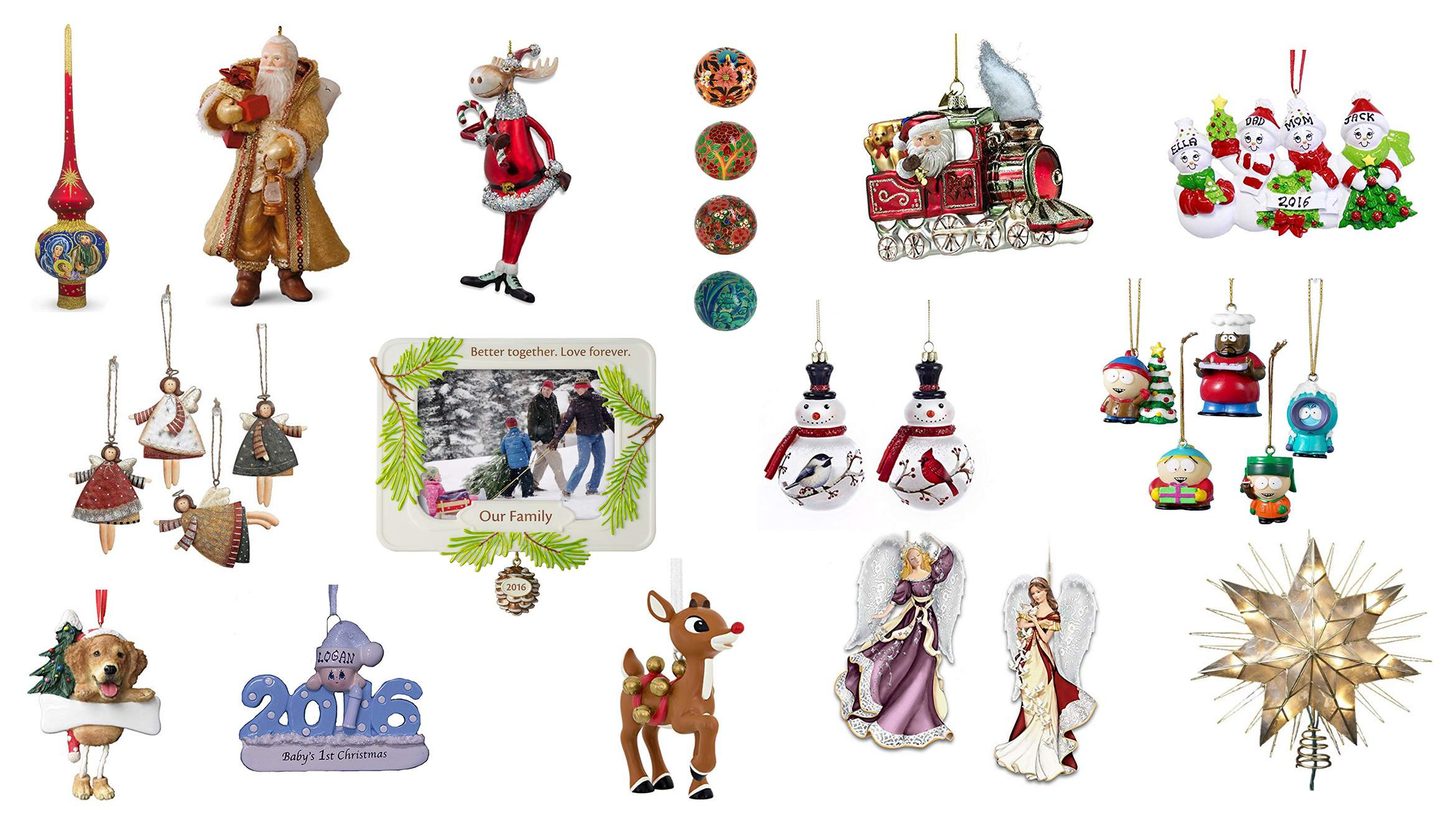Top 40 Best Christmas Tree Ornaments for 2016.