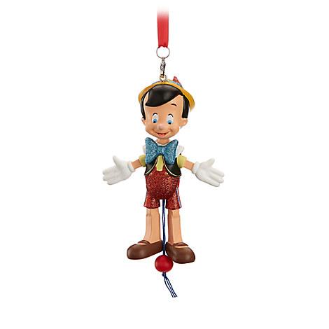 Pinocchio Articulated Figural Ornament.