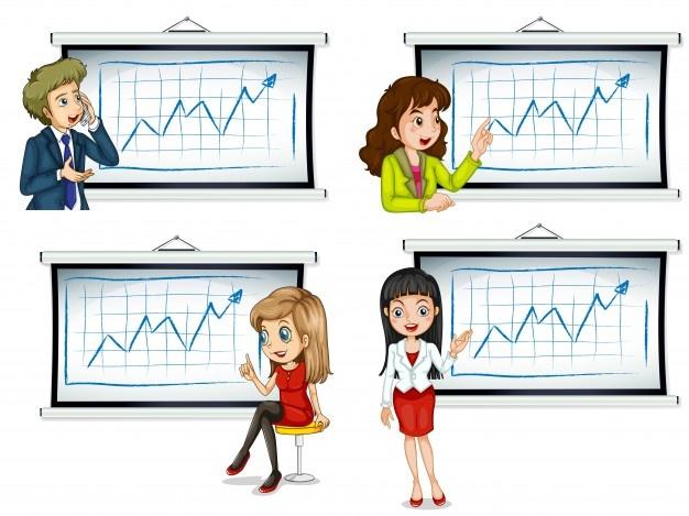 Figuras estatísticas de arte clipart vendas de imagens.