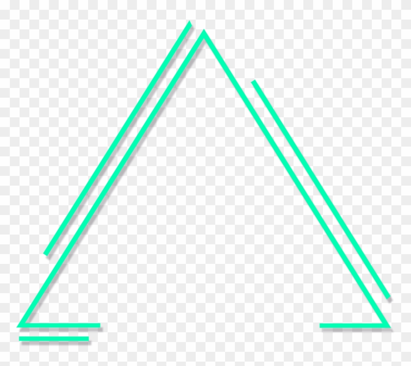 green #lines #triangle #neon #glow #freetoedit.