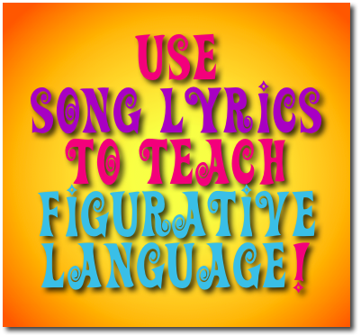 Figurative language in the yellow clipart.