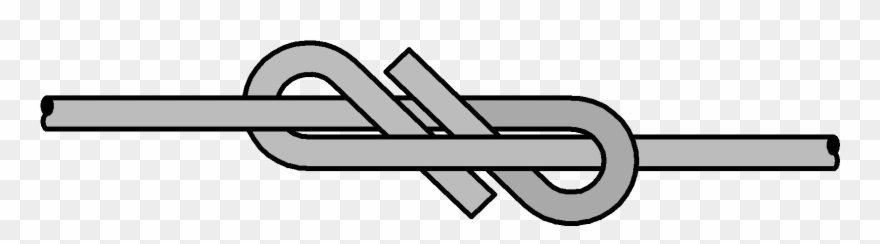 Picture Of Figure 8 Eight Fencing Knot Clipart (#2257558.