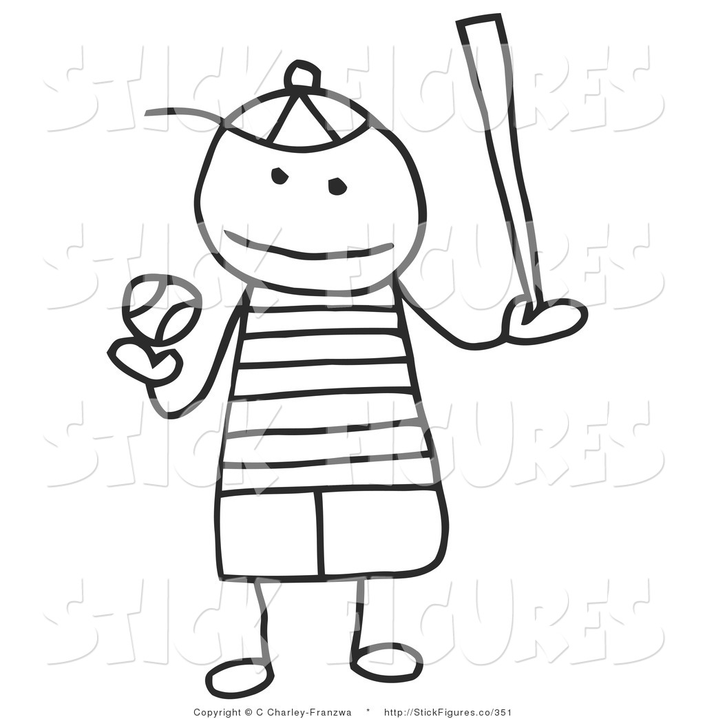 Clipart stick figure little boy.