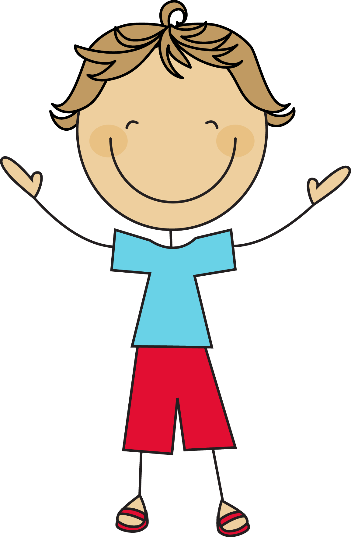 Boy stick figure clip art.
