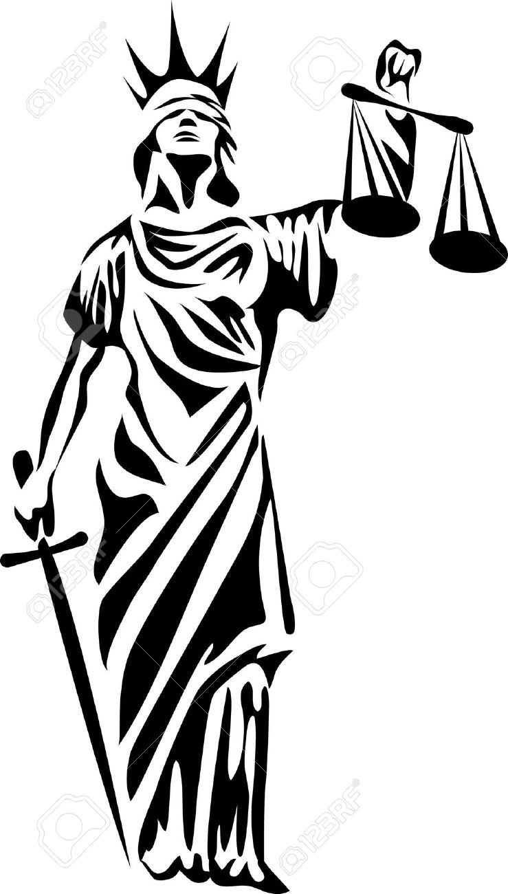 lady justice statue drawing - photo #9
