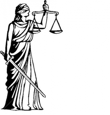 Picture Of Blind Justice.