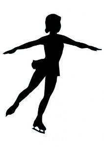ice skater silhouette.