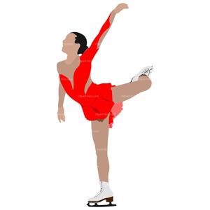 Female Figure Skater Clipart.