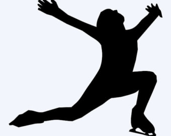 Figure skating clipart picture.