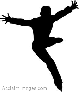 Male figure skating clipart.