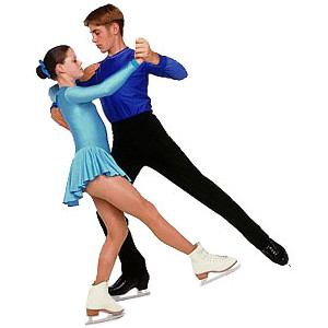 Pairs figure skating clipart.