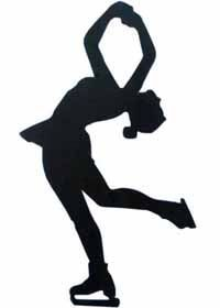 Awesome figure skating silhouette clip art.