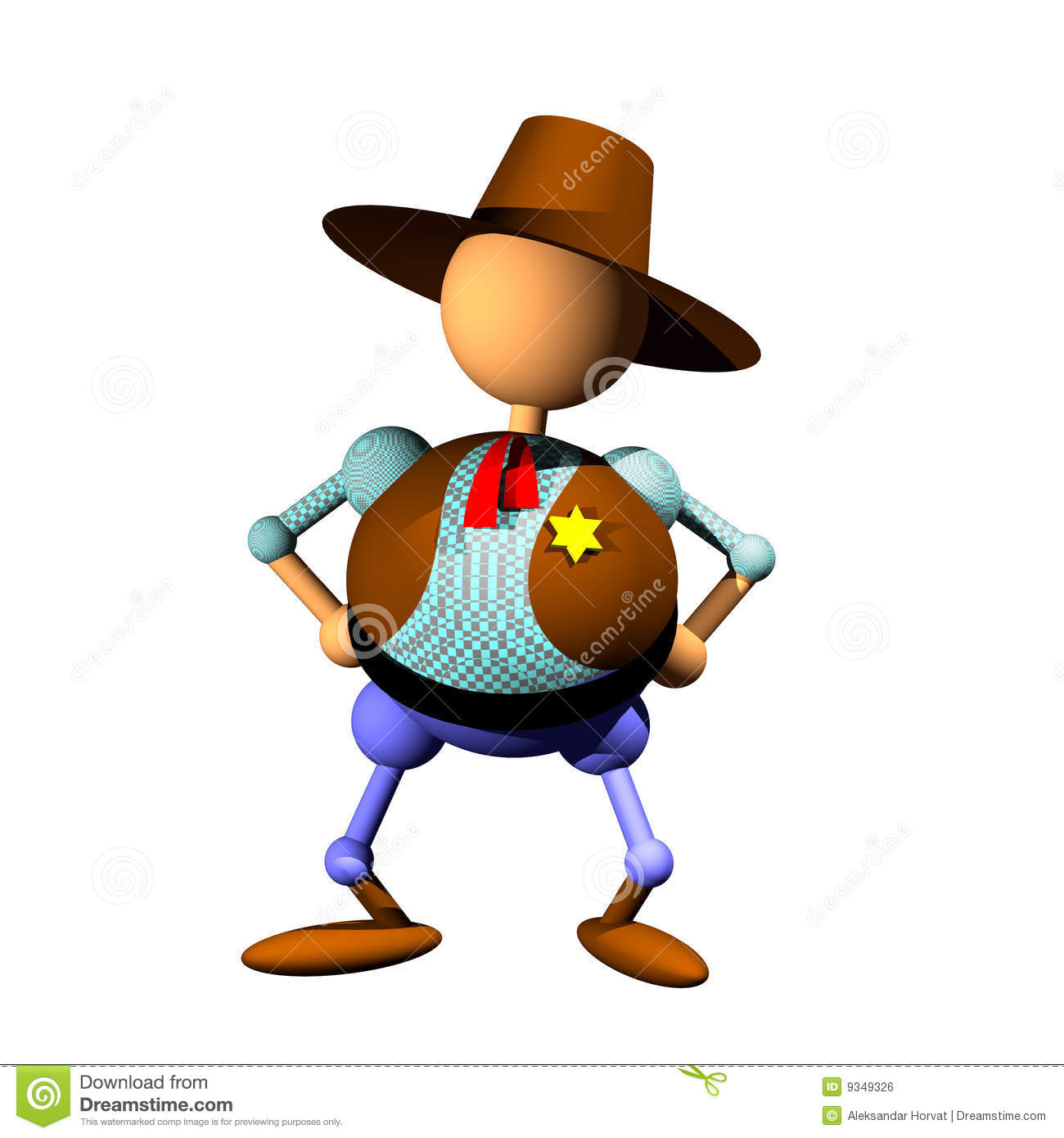 Sheriff Clipart Royalty Free Stock Image.